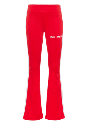 Palm Angels side stripe logo print track pants - Red