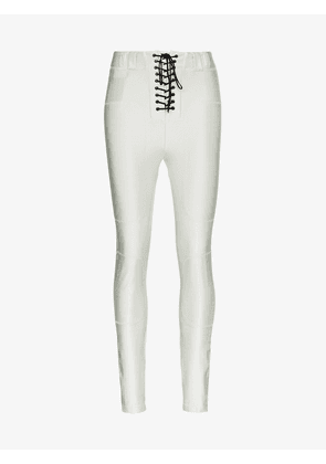 Unravel Project high waisted lace-up skinny trousers
