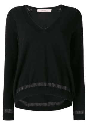 Twin-Set v-neck jumper - Black