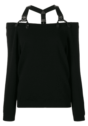 Moschino off-the-shoulder jumper - Black