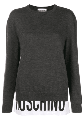 Moschino branded panel jumper - Grey