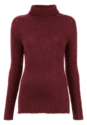 Cecilia Prado turtle neck tricot blouse - Red