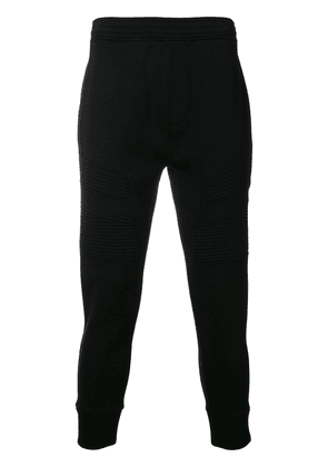 Neil Barrett tapered panelled track pants - Black