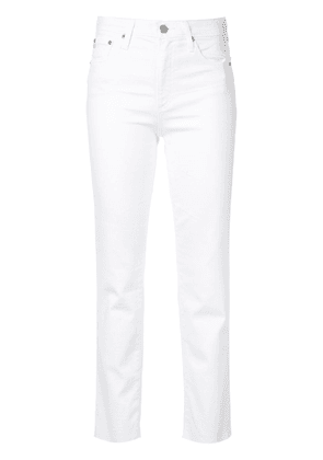 Ag Jeans Isabelle high-rise straight crop jeans - White