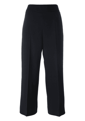 'S Max Mara straight cropped trousers - Black