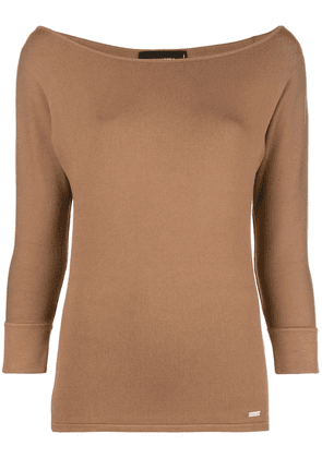 Dsquared2 boat neck jumper - Brown
