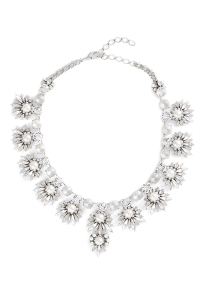 'Jam' Swarovski crystal glass pearl bib necklace