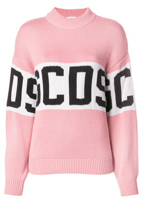 Gcds logo roll neck sweater - Pink & Purple