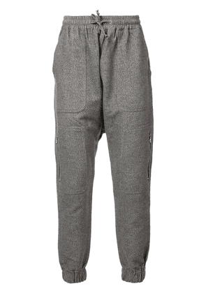 Mostly Heard Rarely Seen zipper detailing sweatpants - Grey