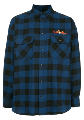 Doublet back embroidered checked shirt - Blue