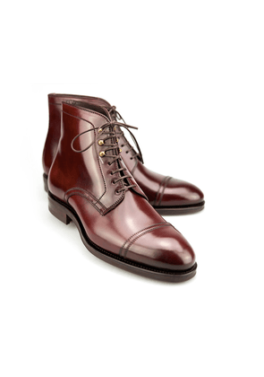 Carmina Burgundy Cordovan Leather Jumper Boot