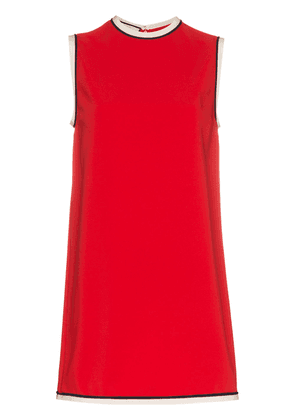 Gucci grosgrain trimmed cady tunic - Red