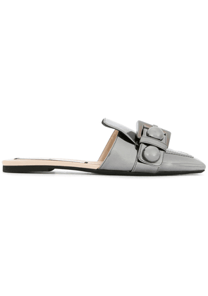 No21 buckle detail mules - Metallic