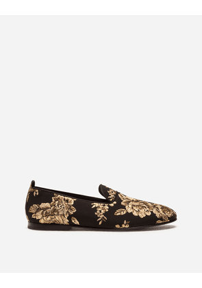 Dolce & Gabbana Loafers and Slippers - LUREX JACQUARD SLIPPERS GOLD