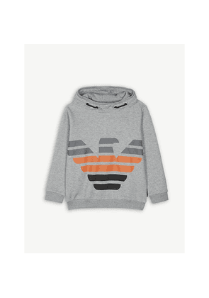 Logo cotton-blend hooded jumper 4-16 years