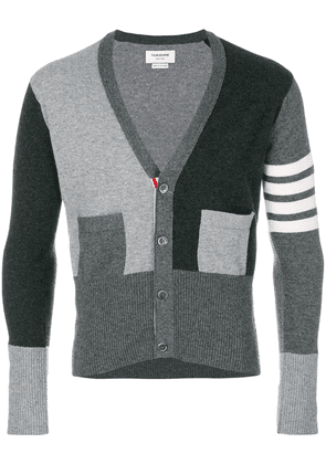 Thom Browne fitted waist v-neck cardigan - Unavailable