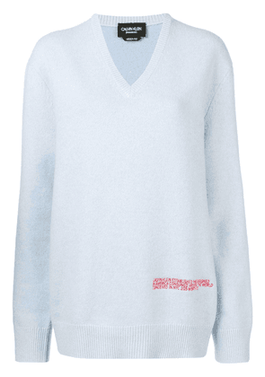 Calvin Klein 205W39nyc logo embroidered sweater - Blue