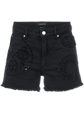 Rewyn Embroidered Cotton Shorts