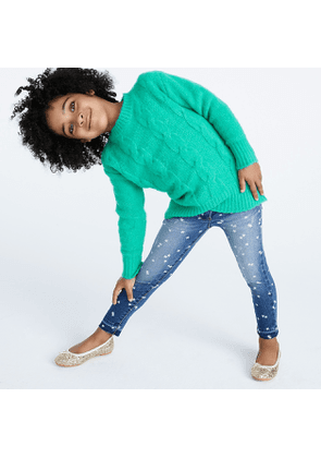 Girls' star-printed stretch toothpick jean