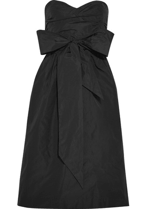 ALEXACHUNG - Ruched Taffeta Dress - Black