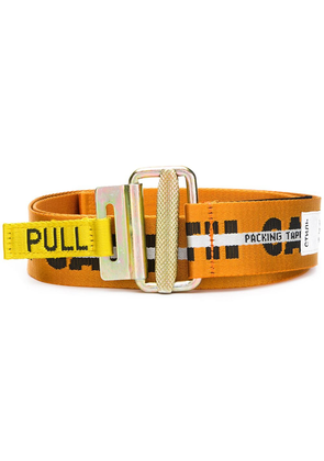 Heron Preston packing tape belt - Yellow & Orange