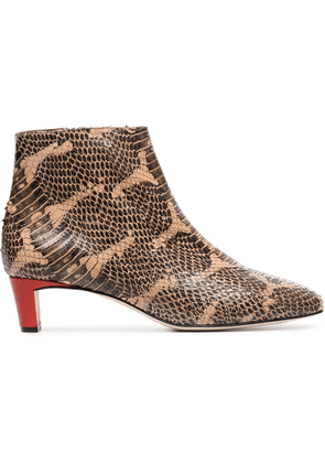 Atp Atelier Clusia 45 snake embossed Boots - Brown