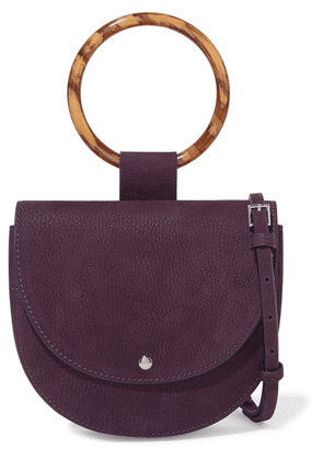 Theory - Whitney Small Nubuck Shoulder Bag - Purple