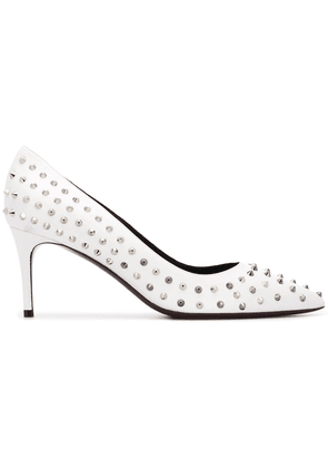 Deimille studded pointed pumps - White