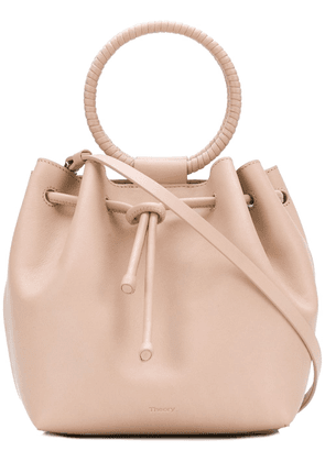 Theory wax cord hoop shoulder bag - Pink