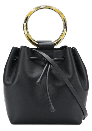 Theory wax cord hoop shoulder bag - Black