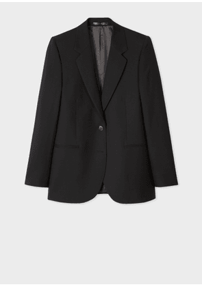 A Suit To Travel In - Women's Black Two-Button Wool Blazer