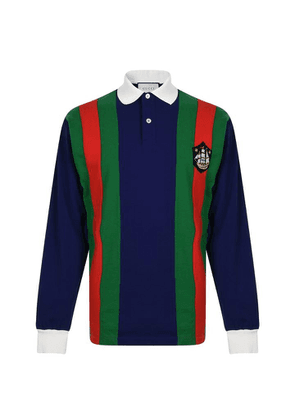 GUCCI Crest Rugby Long Sleeve Polo Shirt