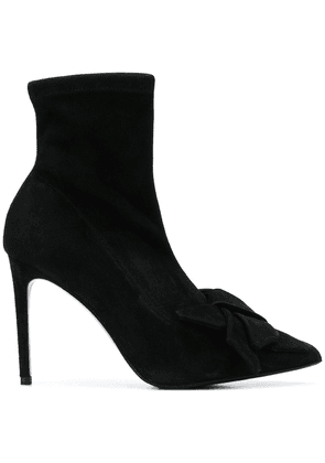 Alberto Gozzi bow pointed boots - Black