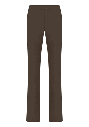 Gloria Coelho high rise straight-fit trousers - Brown