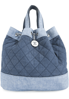 Chanel Vintage quilted 2way chain bag - Blue