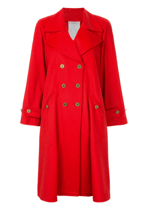 Chanel Vintage cashmere double-breasted flared coat