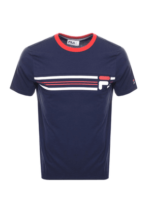 d1713ae1d792 Fila Vintage Plaxton Printed Polo T Shirt Navy | MILANSTYLE.COM