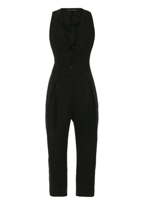 Gloria Coelho pleated jumpsuit - Black