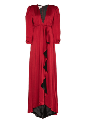 Gucci shoulder pad floor length gown - 6123 Red