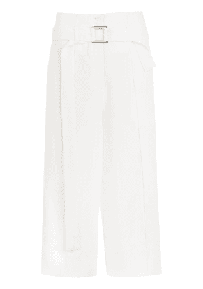 Gloria Coelho belted cropped pants - White