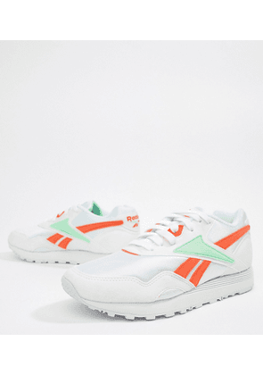 71fee4b13dd Reebok Exclusive To ASOS Rapide Trainers In Green And Orange - White digital  green
