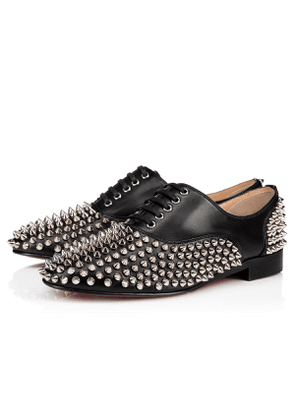 2c9c163b375e Christian Louboutin Freddy Spikes Donna Nappa BLACK SILVER Lambskin - Women  Shoes