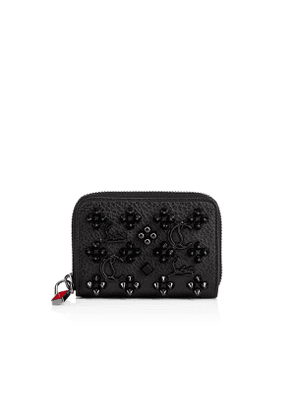 Christian Louboutin Panettone Coin Purse BLACK/ULTRABLACK Classic Leather - Accessories