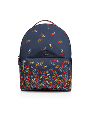 Christian Louboutin Backloubi Backpack Blue and Multicolor Nylon - Handbags