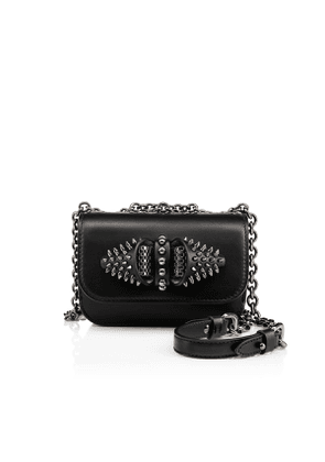 Christian Louboutin Sweety Charity Mini Chain Bag Black Calfskin - Handbags