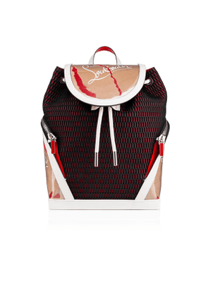 Christian Louboutin Explorafunk Backpack Kraft, White and Red Calfskin - Handbags