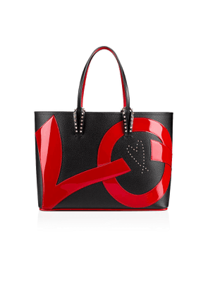 Christian Louboutin Cabata Tote Bag Black and Red Calfskin - Handbags