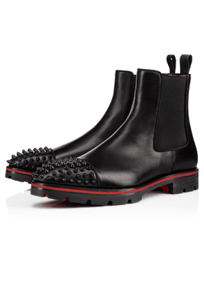 Christian Louboutin Melon Spikes Calf/Gros Grain Black Calfskin - Men Shoes