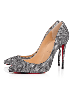 Christian Louboutin Pigalle Follies Glitter Diams 100 Antic Silver Glitter - Women Shoes
