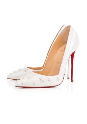 Christian Louboutin Wonder Pump Nappa Shiny/Patent 120 Latte Lambskin - Women Shoes